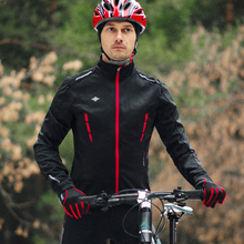 Santic Men Cycling Jacket Winter Windbreaker MTB Coat Bike Jacket Keep Warm Breathable And Comfort clothes Reflective  K9M5112R wosawe cycling windbreaker jacket cycling motocross riding outwear lightweight waterproof coat mtb bike jersey reflective coat