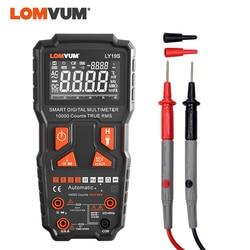 LOMVUM 9999 Counts Digital Multimeter Intelligent AC DC Voltage Current Meter Capacitance Backlight Temperature HOLD Probes Pen