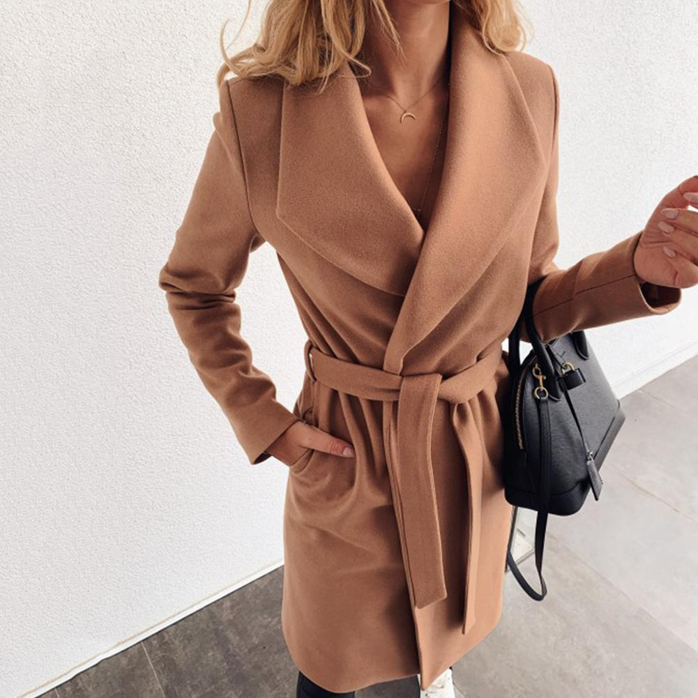 Long Cardigan Trench Coat Women Autumn Winter Loose Wild Knit Sweater Coat Elegant Windbreaker Long Coat Cardigan Trench Coat