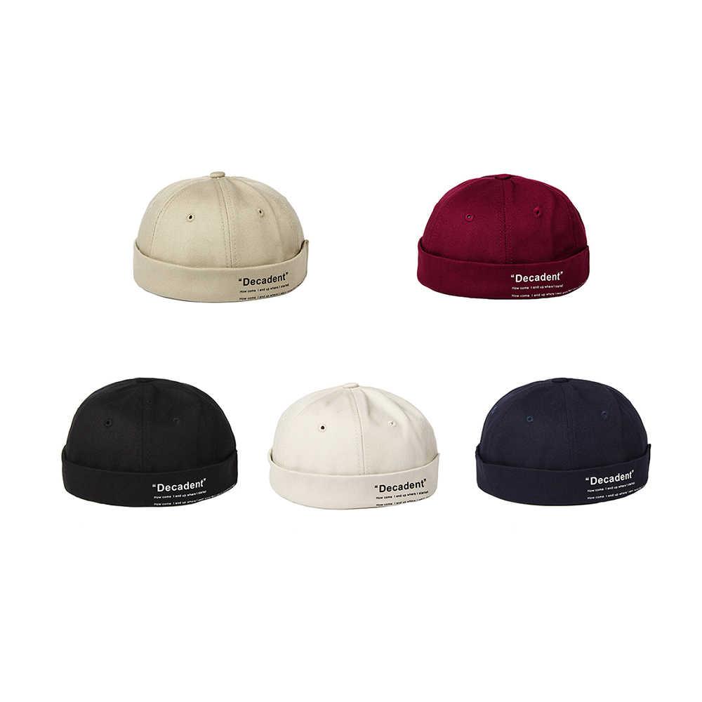 2019 جديد Brimless قبعة الرجال قبعة النساء المجهزة قبة قبعة Skullcap الصيف قبعة بتصميم هيب هوب للجنسين المارقة قبعة ساعة قبعة الساخن بالجملة