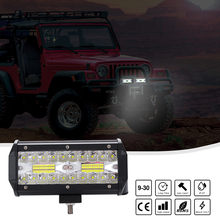 7in Led Light Bar 200w 6000k White Offroad Driving Lights Beam Fog Lights Waterproof Work Light Ip 67 Waterproof 17x11x10cm#P55(China)