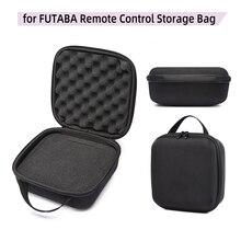 Universal rc transmissor protetor controle remoto bolsa caixa caso saco de armazenamento para at9 sat10 wfly 7 9 futaba peças acessório