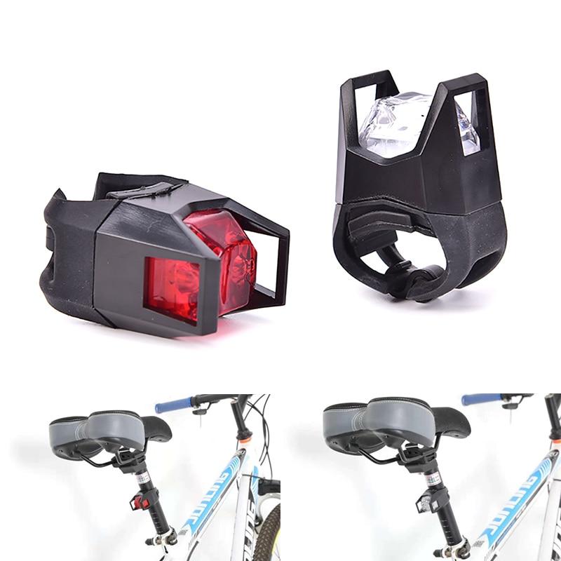 1PC Black Bike Bicycle Cycling Flashing Head Front Wheel LED Flash Light Lamp