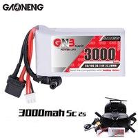Gaoneng GNB 3000MAH 2S 5C 7,4 V Lipo Indicador de energía de la batería para 0 Fatshark gafas Dominator Skyzone Aomway FPV gafas RC Drone