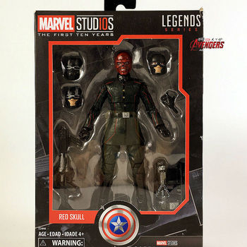 """Marvel Legends 10th Anniversary Red Skull 6"""" Action Figure Studios The First Ten Years Captain America Collectible Original"""