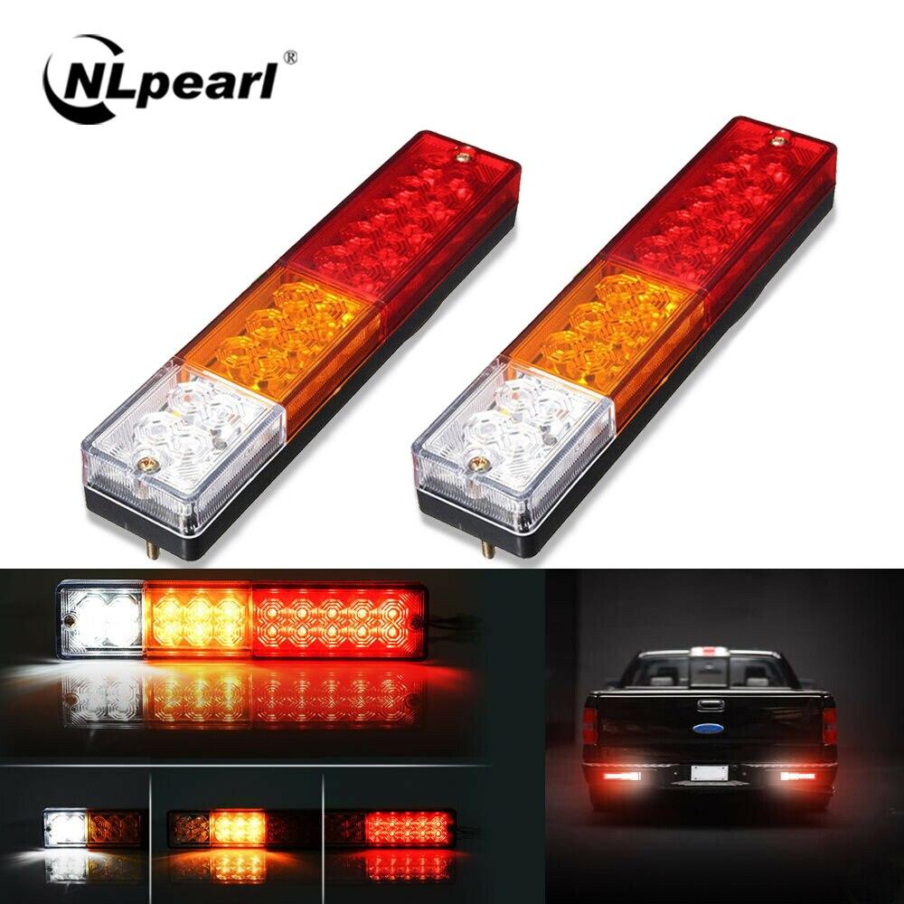 Luz trasera LED impermeable Nlpearl 2x12V 24V para camiones, caravanas, campistas, barcos, ATV, Trailer, lámpara de advertencia, luz trasera de freno de coche