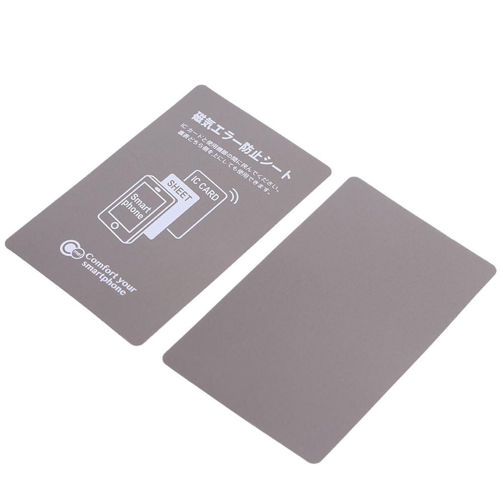 Grey Anti-Metal Magnetic NFC Sticker Paster For IPhone Cell Phone Bus Access Control Card IC Card Protection Supplies