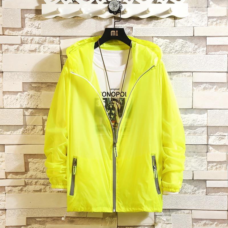 Men Print Skin Light Ultra-Thin Jacket Hoodie 2020 Summer Thin Outwear Sun Protection Clothing