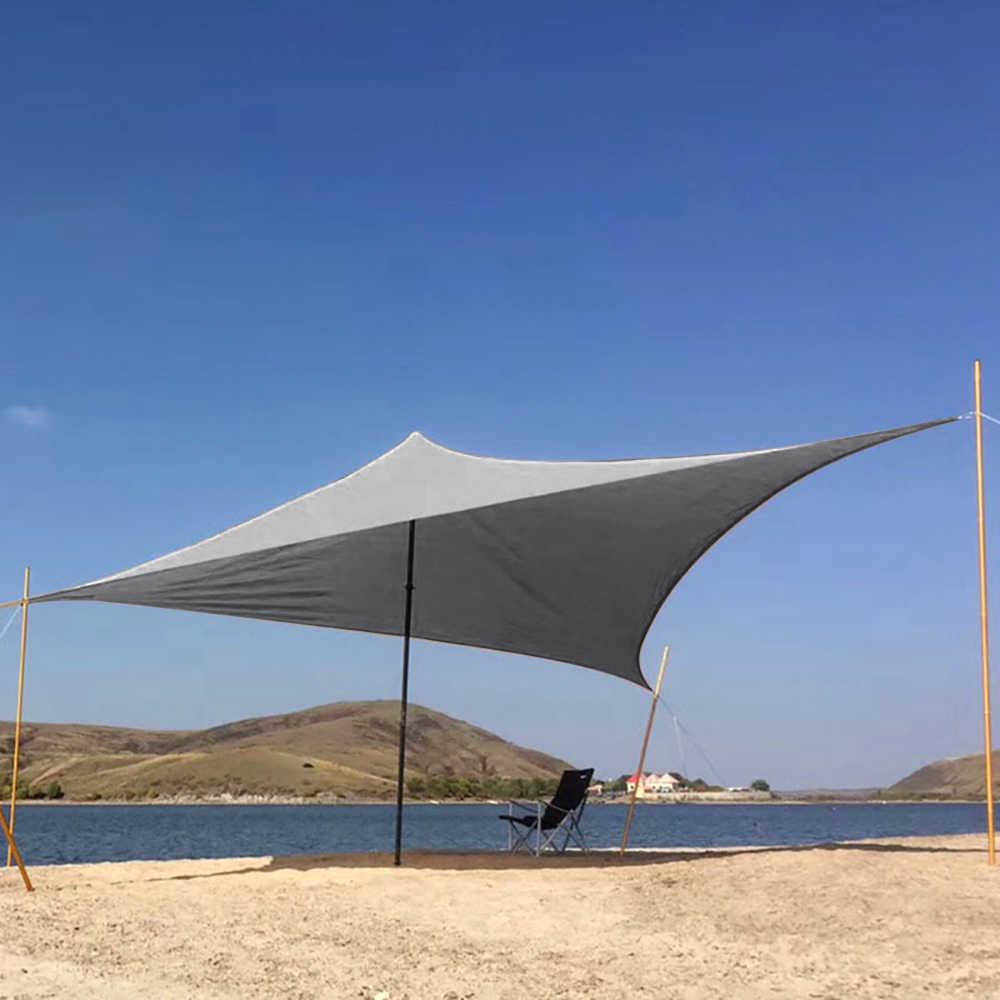 กลางแจ้งร่มกันแดด Sail กันน้ำกันสาดป้องกัน Porch ลานสวนสระว่ายน้ำ Shade Awning Camping เต็นท์ปิคนิค