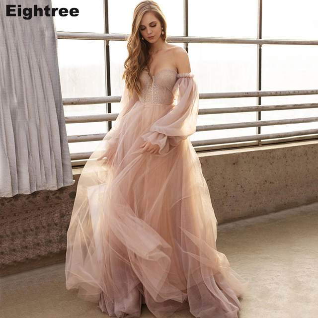 Eightree Pink Wedding Dresses  Plus Size Wedding Gowns 1