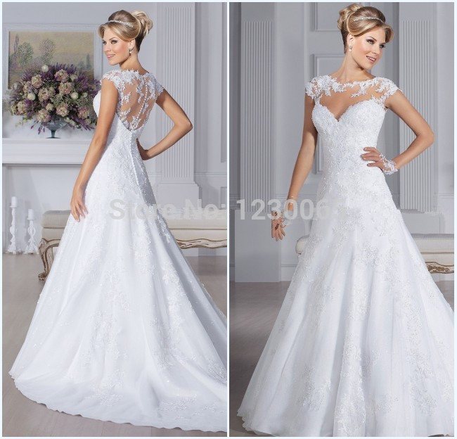 Vestido De Noiva Sereia Renda 2018 Sexy Lace A Line Bridal Gown Robe De Mariee Vestidos Casamento Mother Of The Bride Dresses