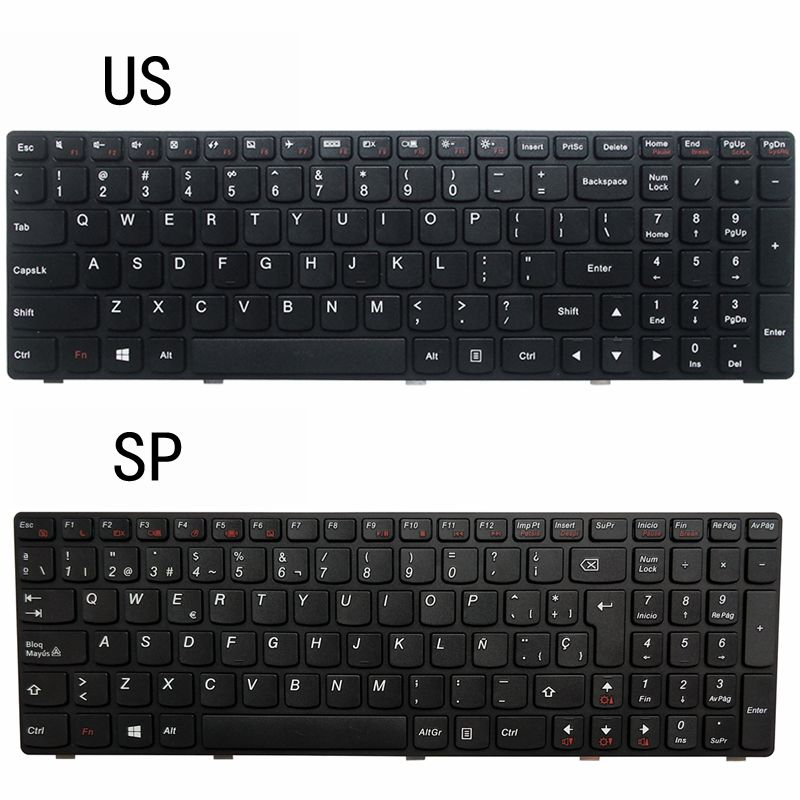 NEW US/SP LAPTOP KEYBOARD FOR <font><b>Lenovo</b></font> G510 G505 G700 <font><b>G500</b></font> G710 image