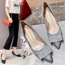 Liren 2019 Summer Fashion Sexy Lady Slip-on Sandals Pointed Wrapped Toe Shallow Hoof Heels Med High Heels Casual Women Shoes 2018 summer new arrived england plaid cloth women sandals pointed toe shallow slip on comfort high heel office lady casual shoes