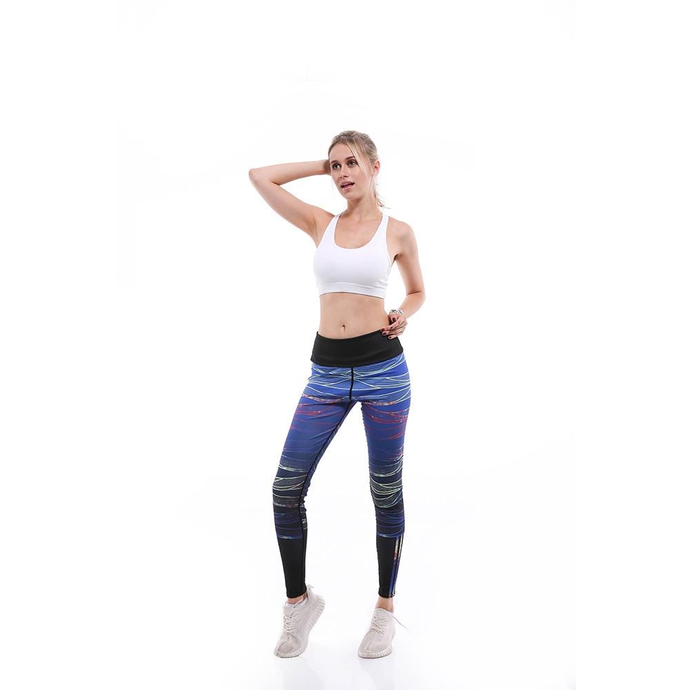 Digital Printing Bottom Pants Women's Body-building Fashion Lady Pants9-point Lady Pants Leggings
