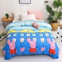 цена на Bedding Set 4Pcs/Set Cartoon Lovely Bed Textile Small Fresh Bed Set Print Cover Bed Sheet Pillowcase & Duvet Cover Wave Point