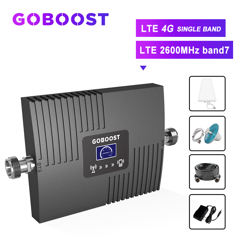 4G LTE 2600 Cellular Amplifier Mobile Signal Booster 4G Repeater LTE Cellular Signal Booster 4G LTE GSM Repeater Kit LCD Display