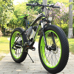 Snow electric mountain bike 1000w motor 16ah battery Fat Tire Electric Bike 26x4.0 Snow Mountain Bike 26 Beach auxiliary bicycle