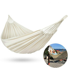 Camping Hammock Cotton Hammock Swing Bed Outdoor Backpack Survival or Travel Top Rated Quality Equipment Hanging Chair Swing