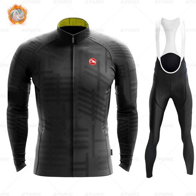 2020 velo de inverno pro conjunto camisa ciclismo mountian bicicleta roupas wear ropa ciclismo corrida roupas ciclismo conjunto 5