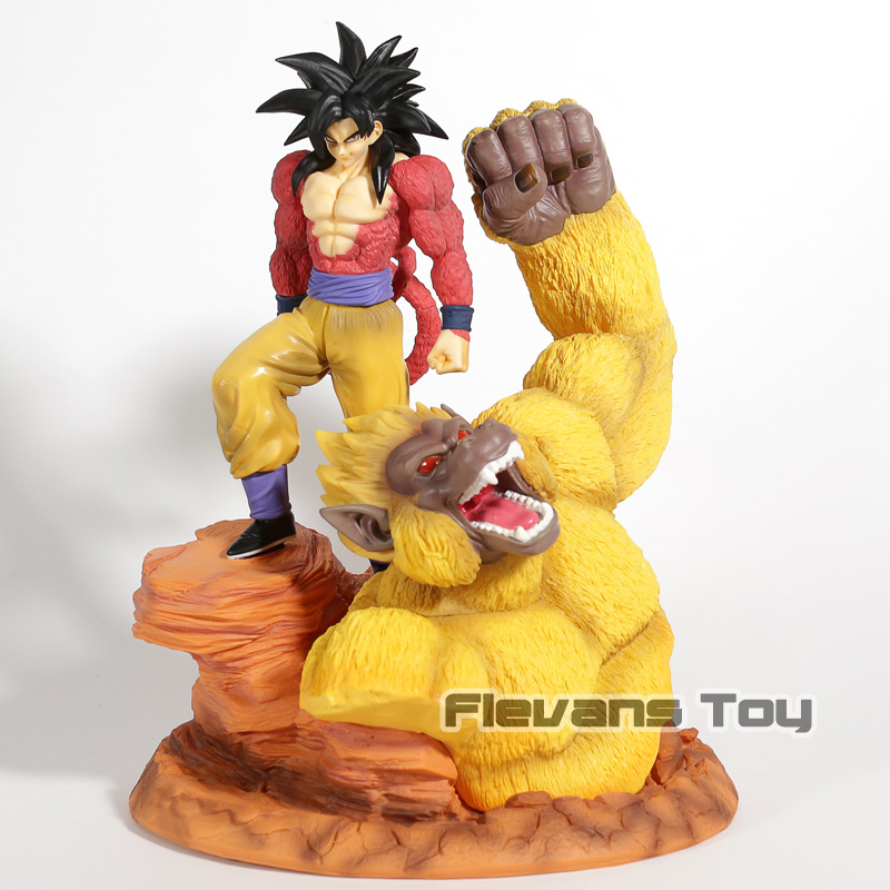 Anime Dragon Ball Z Super Saiyan 4 Son Goku Resin Statue Figure Collection Model Toy