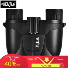 купить BIJIA 10X25 Mini Porro Telescope Binocular Pocket Light Binocular Portable Telescope Binoculars camping hunting jumelle tools дешево