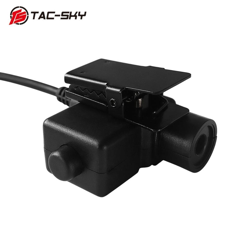 TAC-SKY U94 PTT Kenwood plug+COMTAC III double pass silicone earmuff version noise reduction pickup military tactical headset FG