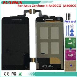 Qualidade original para asus zenfone 4 a400cg (a400cg) display lcd com sensor de tela sensível ao toque substituição do conjunto completo