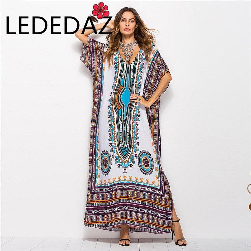 Casual Long Print Summer White Black Women's Muslim Dress Turkish Abayas Plus Size Fashion Islamic Clothing Robe Dubai Djellaba