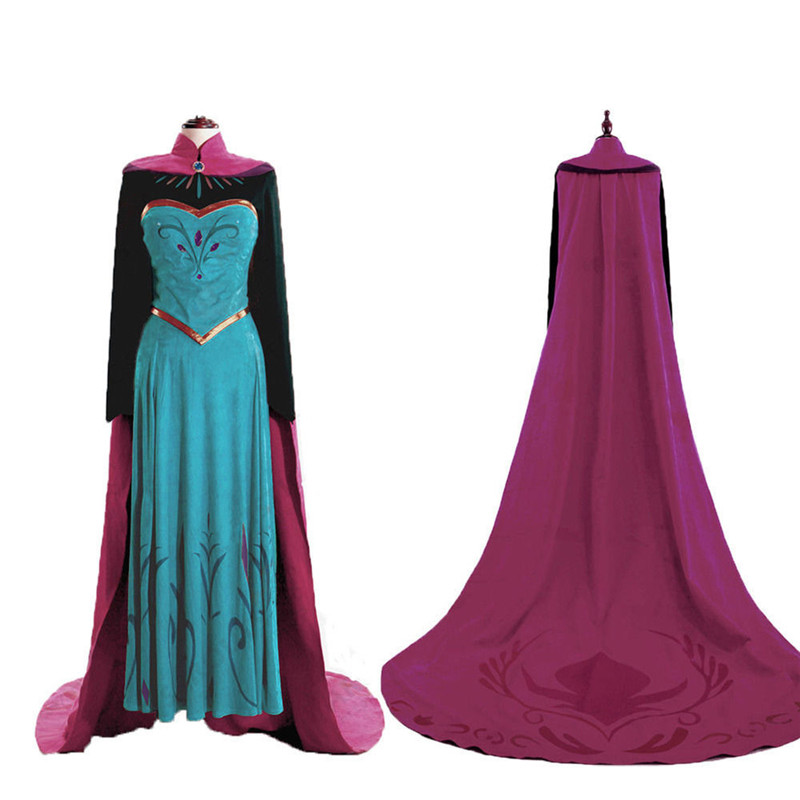 New Frozen 2 Adult Female Skirt Cosplay Anna Princess Anime Halloween Anime Princess Dress Party Performance Costume And Wig