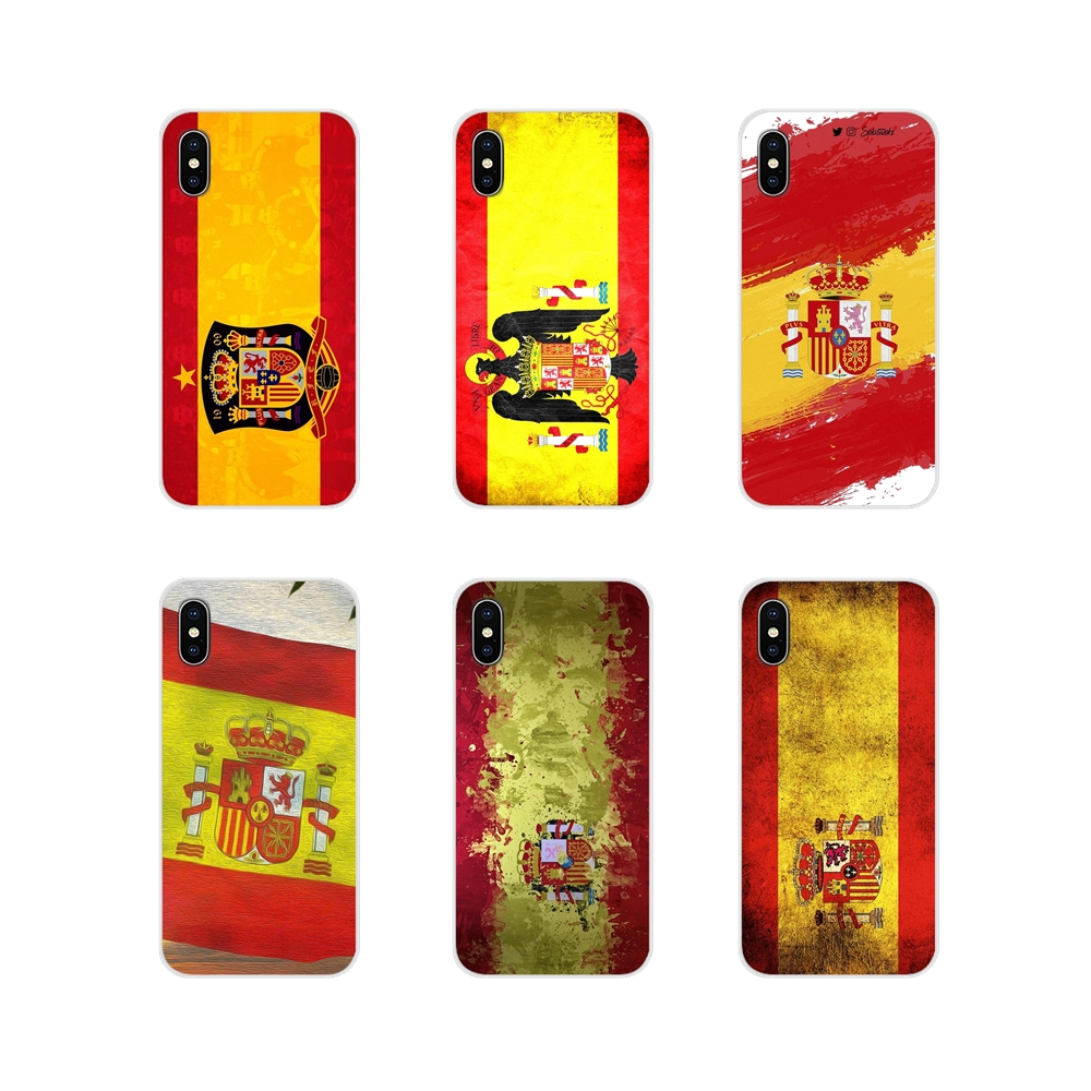Spain Spanish flag Accessories Phone Shell Covers For Huawei Y5 Y6 Y7 Y9 Prime Pro <font><b>GR3</b></font> GR5 <font><b>2017</b></font> 2018 2019 Y3II Y5II Y6II image