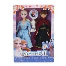 Disney 30cm moda 2 anna princesa bonecas brinquedos neve rainha figura de ação olaf bonecas para crianças meninas presente aniversário