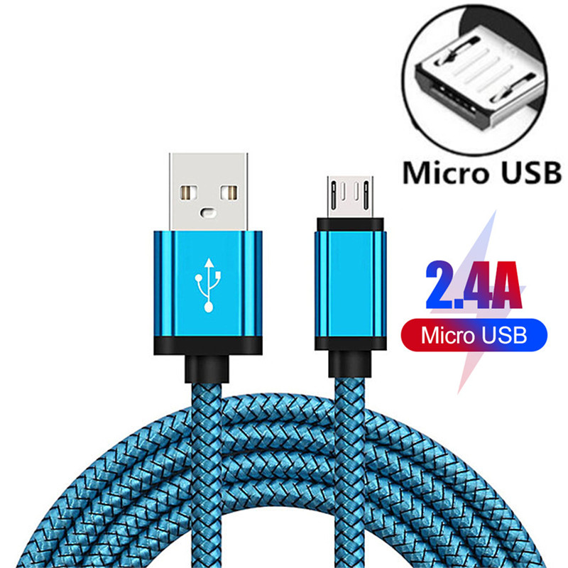 <font><b>1</b></font>/2/3 Meter Micro USB Phone <font><b>Cable</b></font> Android Charger <font><b>Cable</b></font> Kabel Micro USB Charging Wire Cord for Xiaomi Redmi 5 Plus 8 7 <font><b>6</b></font> 6A S2 image