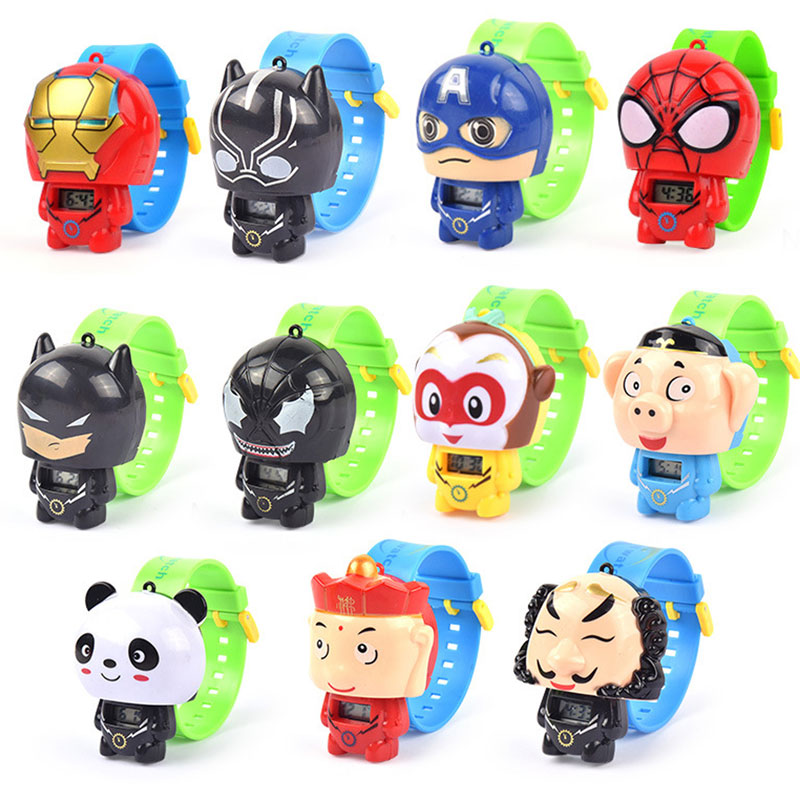 Electronic Children Watches Spiderman Batman Ironman Princess   Deformation  Electronic Kids Watches Toys Gifts