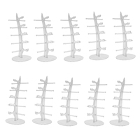 10 Pcs Clear Acrylic Sunglasses Display Tabletop Eyewear Holder Eyeglass Collections Display Stand Rack