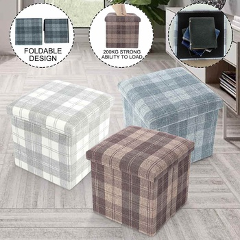 Nordic Style Daily Folding Bag Sofas Square Car Storage Table Stool Bedroom Sitting Stool Fitting Room Furniture Storage Baskets
