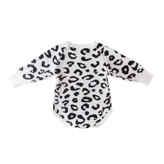 Comfortable ed Baby Clothes Newborn Baby Romper Leopard Baby Girl Romper Cotton Infant Baby Boy Romper 2