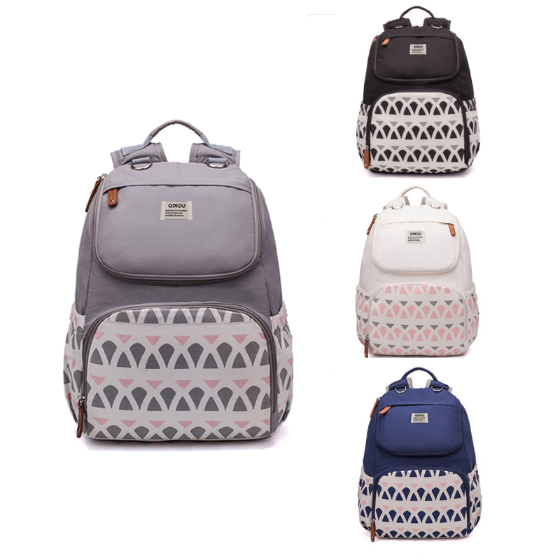 Diaper Bag Pure Color Mens Mummy Baby Care Nappy 40CM Large Capacity Waterproof Business Backpack Travel stroller bag