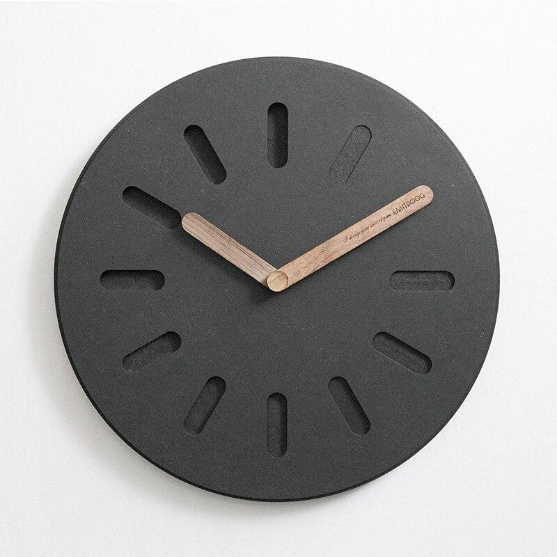 Не тикающие современные украшения дома ретро квадратные часы бетонные Деревянные Черные DIY настенные часы для подарка