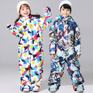 Image 4 - 2019 New Ski Suit For Boys And Girls Winter Children Windproof Waterproof Super Warm Snow Skiing And Snowboarding Clothes