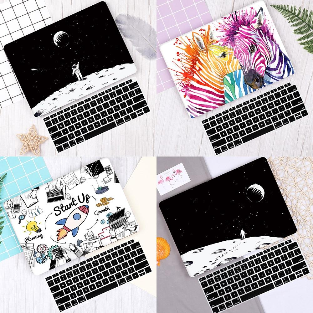 Cartoon Pattern Laptop Cover For MacBook Air Pro Retina 11 12 13.3 For Mac Book Air Pro 13 Case 2019 A2159 A1932 Keyboard Skin