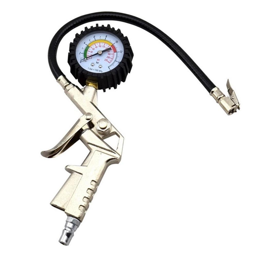 Multifunctional Air Tire Tyre Pressure Inflator Gauge Meter Dial Vehicle Tester Tire Repair Tools For Car Truck Motorcycle