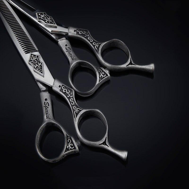 Купить с кэшбэком Professional 6 Inch Hairdressing Scissors Cutting Barber Salon Hair Scissor Styling Tool Thinning Shears Hairdressing Scissors