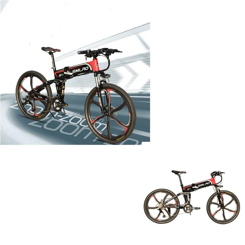 "S11YTL Steadfast e bike26"" Folding Electric Bicycle 48V 10AH 350W  E MTB Foldable ELectric Bike 4"