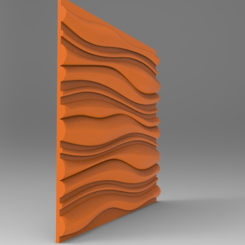 Waved Board Panel Relief 3D Model STL Format File CNC Router ArtCAM Aspire Type3 JDpaint Engraving Carving File A2025