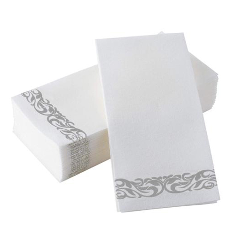150 Pack Disposable Hand Paper - Feel Hand Napkins - Decorative Floral Paper Guest Towels