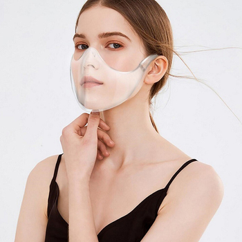 Reusable Face Mask For Adults Half Face Kitchen Oil Splash Proof Outdoor Anti Dust Face Muffle Transparent Washable Mask TSLM1 2