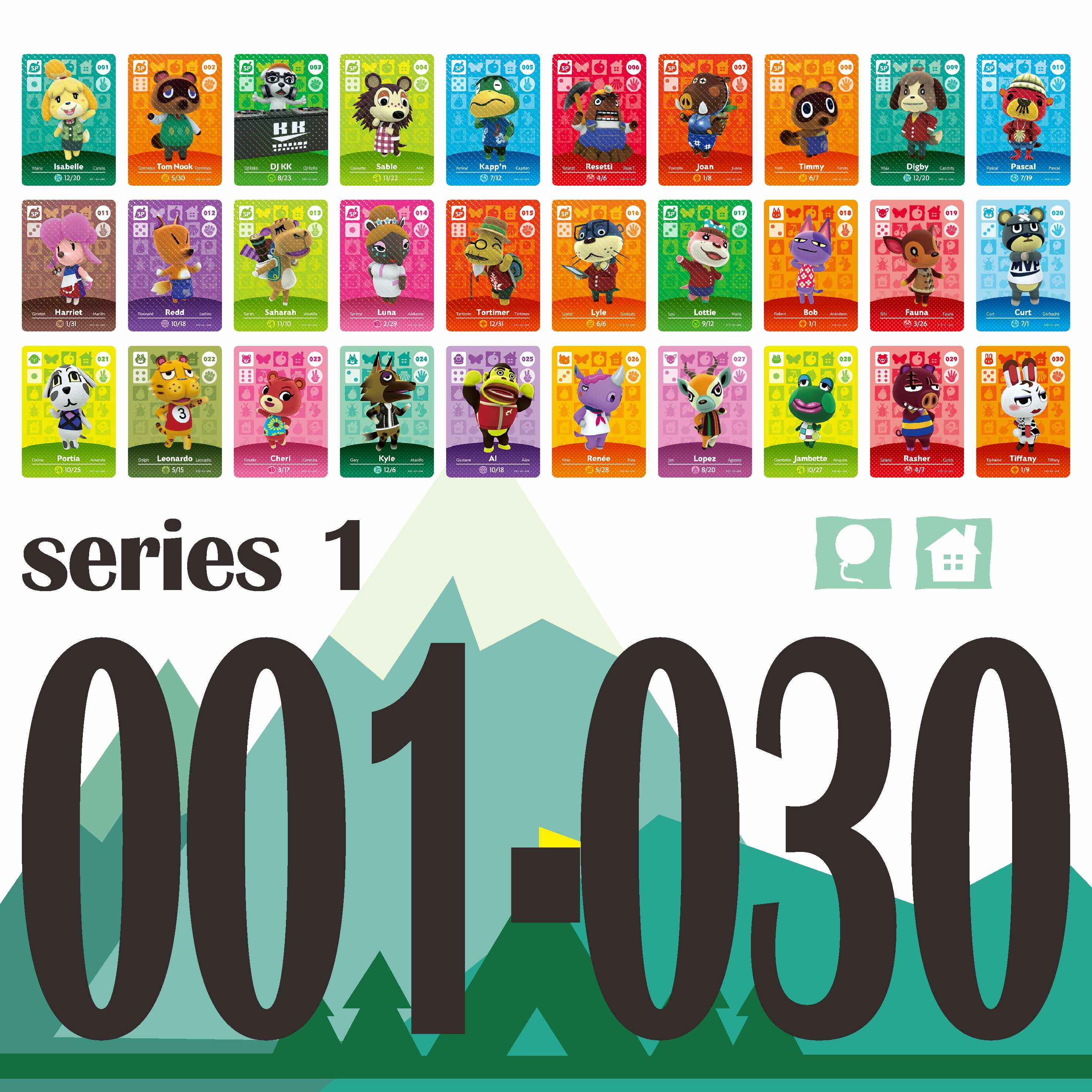 251 to 300 Animal Crossing Card NTAG215 Printed NFC Card Compatible Series 3 Pick from The List
