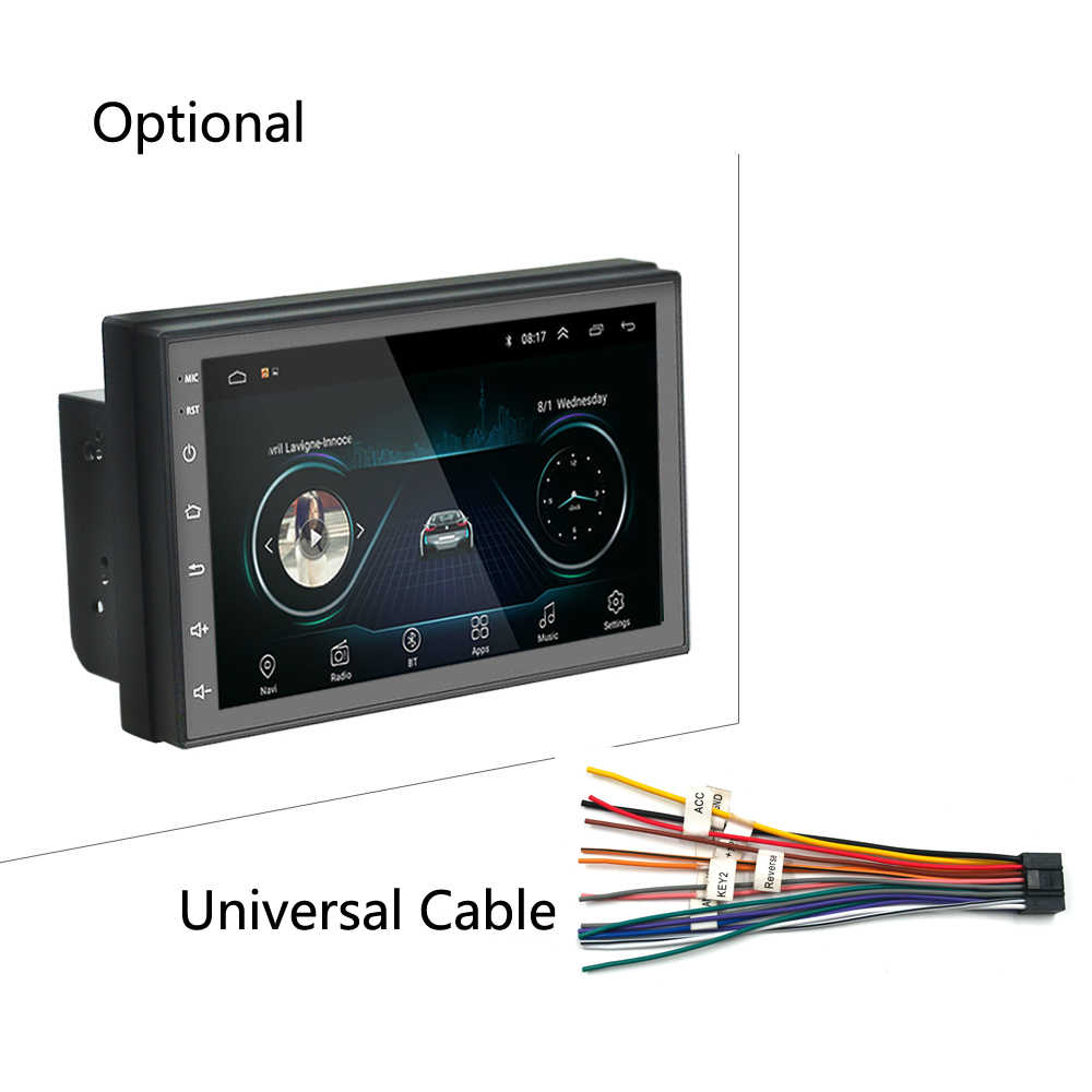 "Android 2 Din Auto Radio Multimedia Video Player Gps Navigatie 2 Din 7 ""Hd Universele Auto Audio Stereo Wifi bluetooth Usb"