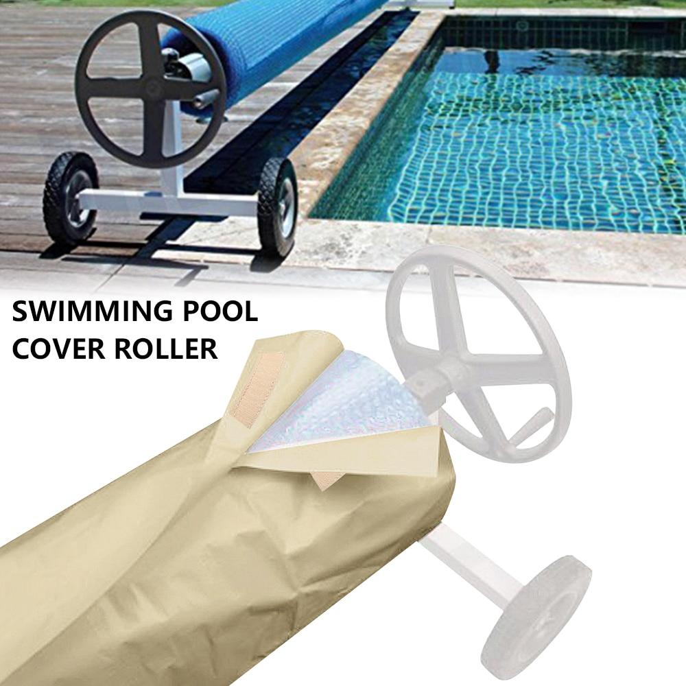 4.9m Swimming Pool Cover Outdoor Dustproof Waterproof UV Protective Pool Solar Roller Reel Cover Solar Blanket Swimming Tool Pool & Accessories    - AliExpress