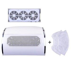 Image 1 - Collecteur de poussière dongles avec 3 ventilateurs, aspirateur puissant, outil de manucure à faible bruit avec 2 sacs de collecte de poussière